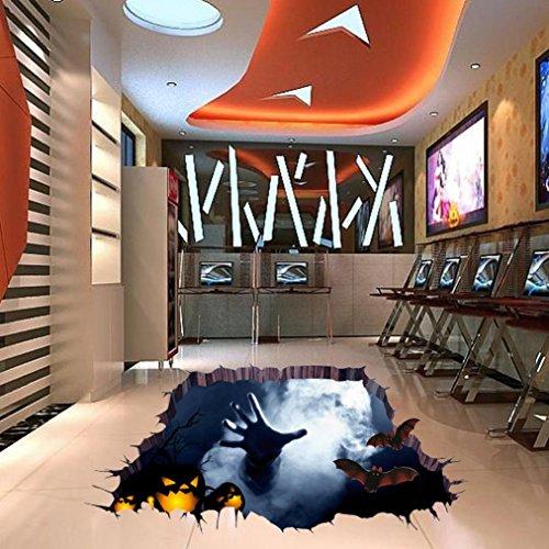 Highpot Halloween Household Room Floor 3D Wall Sticker Mural Decor Decal Removable