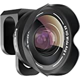 Phone Camera Lens,TODI 4K HD 2 in 1 120° Wide Angle Lens, 20X Macro Lens,Clip-On Phone Lens Compatible iPhone,Samsung, Most A