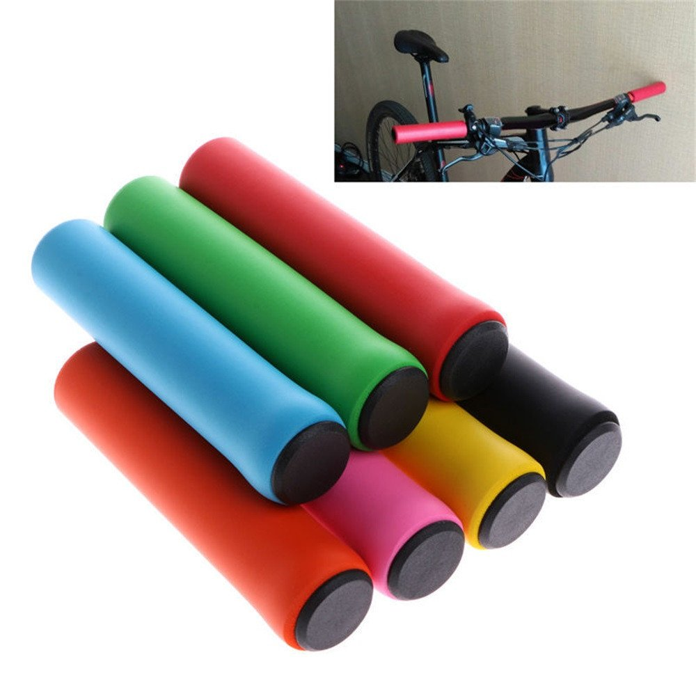 Sinwo Bicycle Ultraight High Density Foam Silicone Sponge Handlebar Grip Bicycle Bike Cycling Handlebar Grip (Pink)