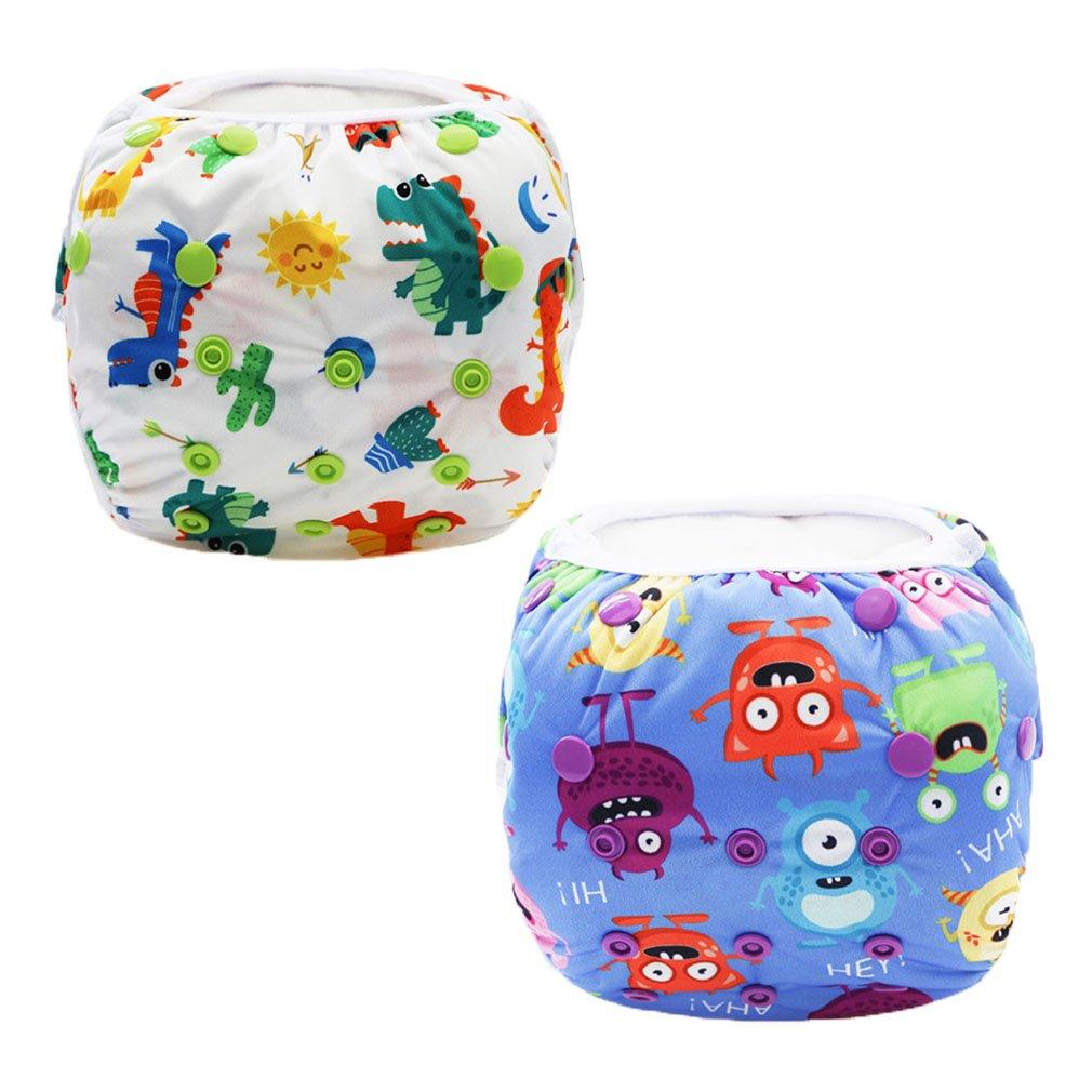 Z-Chen 2er Pack Baby Badewindelhose Schwimmwindel Set 1 EU0079