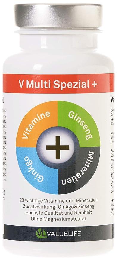 V Multi Special+: multivitamínico y multimineral + Ginkgo Biloba + Ginseng! 22 vitaminas&minerales en un ...