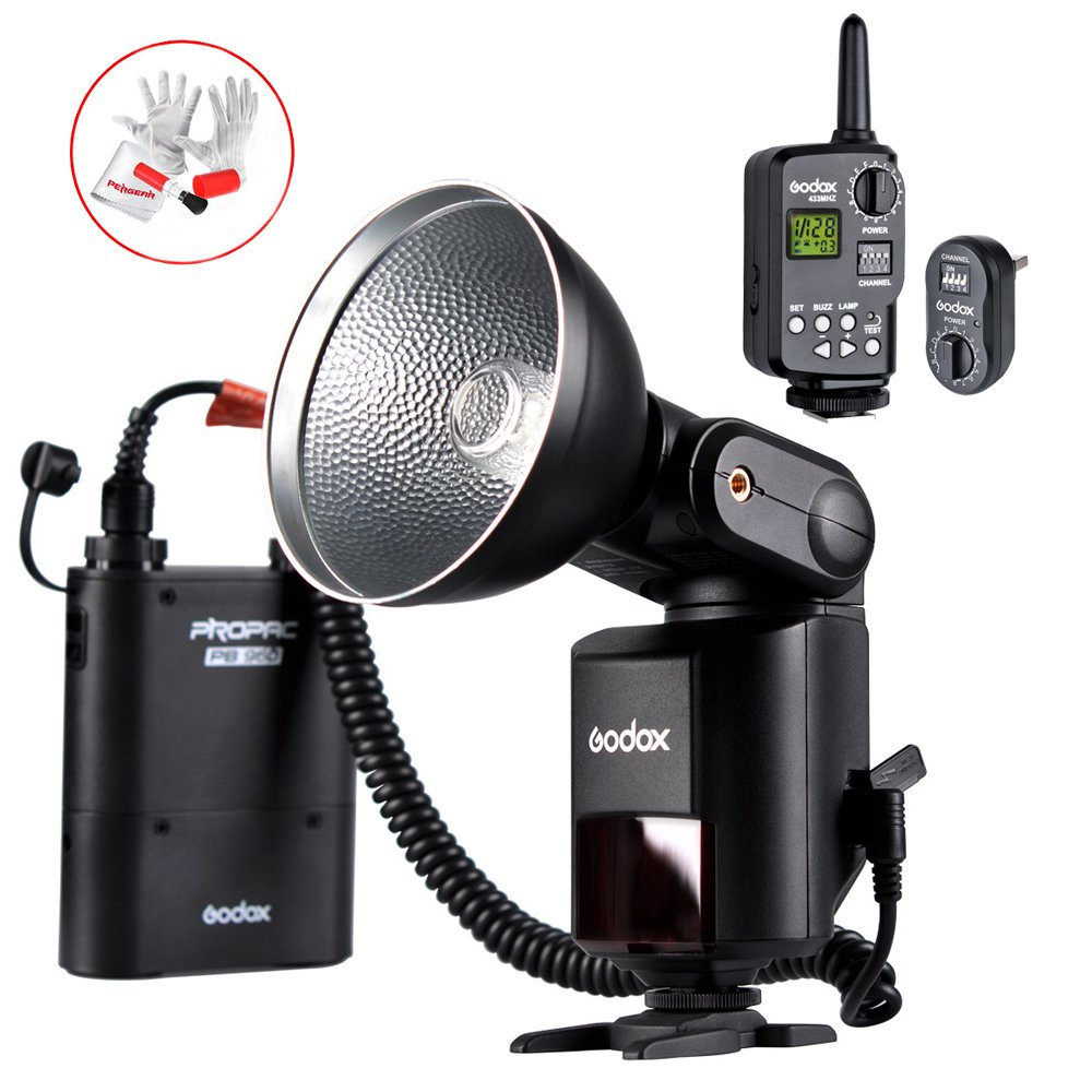 Godox Witstro AD360 High Power External Portable Flash Light Speedlite Kits with 16 Channels Trigger kit and Lithium Battery Pack for DSLR Camera