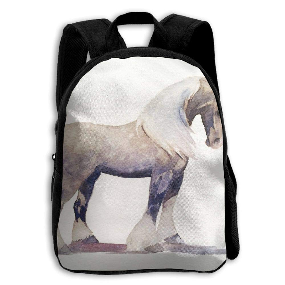 YEWEI 馬プリント 男女兼用 3Dプリント ワイドジッパー 学校 旅行バッグ ショルダーバッグ 子供用バックパック   B07GDDTZ75