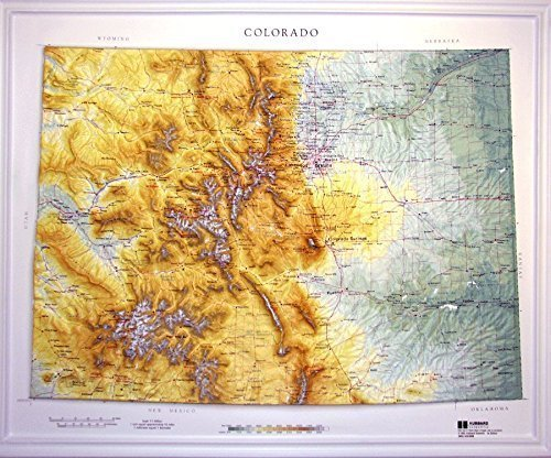 aised Relief Map 950 Colorado State Map (Colorado Raised Relief Map)