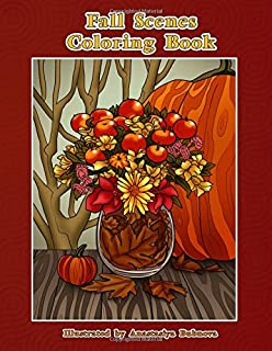 Fall Scenes Coloring Book Autumn To Color And Enjoy Creative Unique