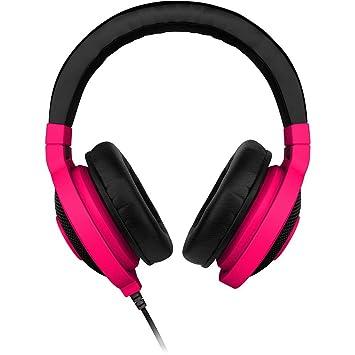 Razer Kraken Neon - Auriculares con micrófonos, Rojo