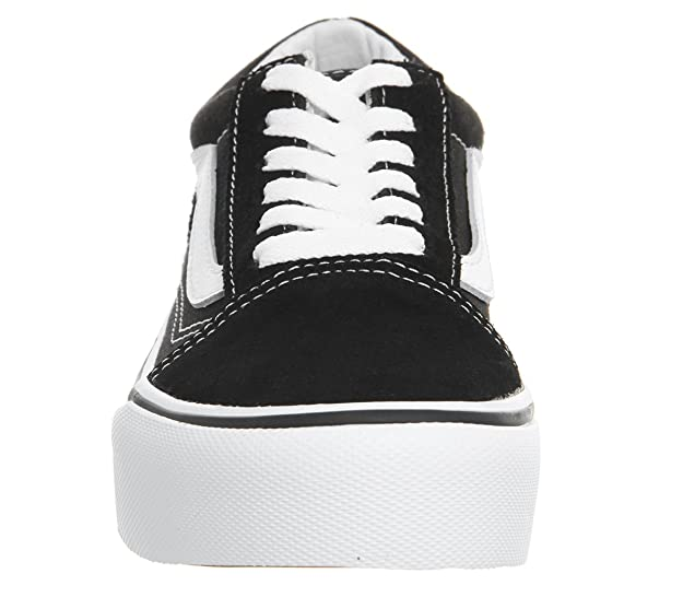 Vans Old Skool Platform Girls Suede Lace Up Trainer Shoes  Amazon.co.uk   Shoes   Bags b7994d169