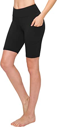 Always Women Bike Shorts with Pockets - Premium Soft Buttery Yoga Legging Pants