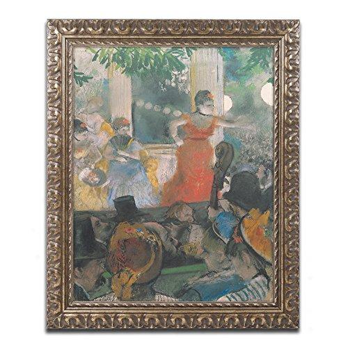 - Concert at Les Ambassadeurs 1876 Artwork by Edgar Degas in Gold Ornate Frame, 16 x 20