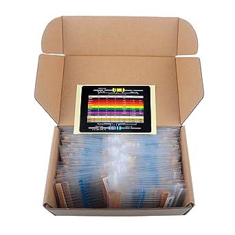 73 values 1460pcs 1/% Precision 1//4W Metal Film Resistors Assortment Tool Kit