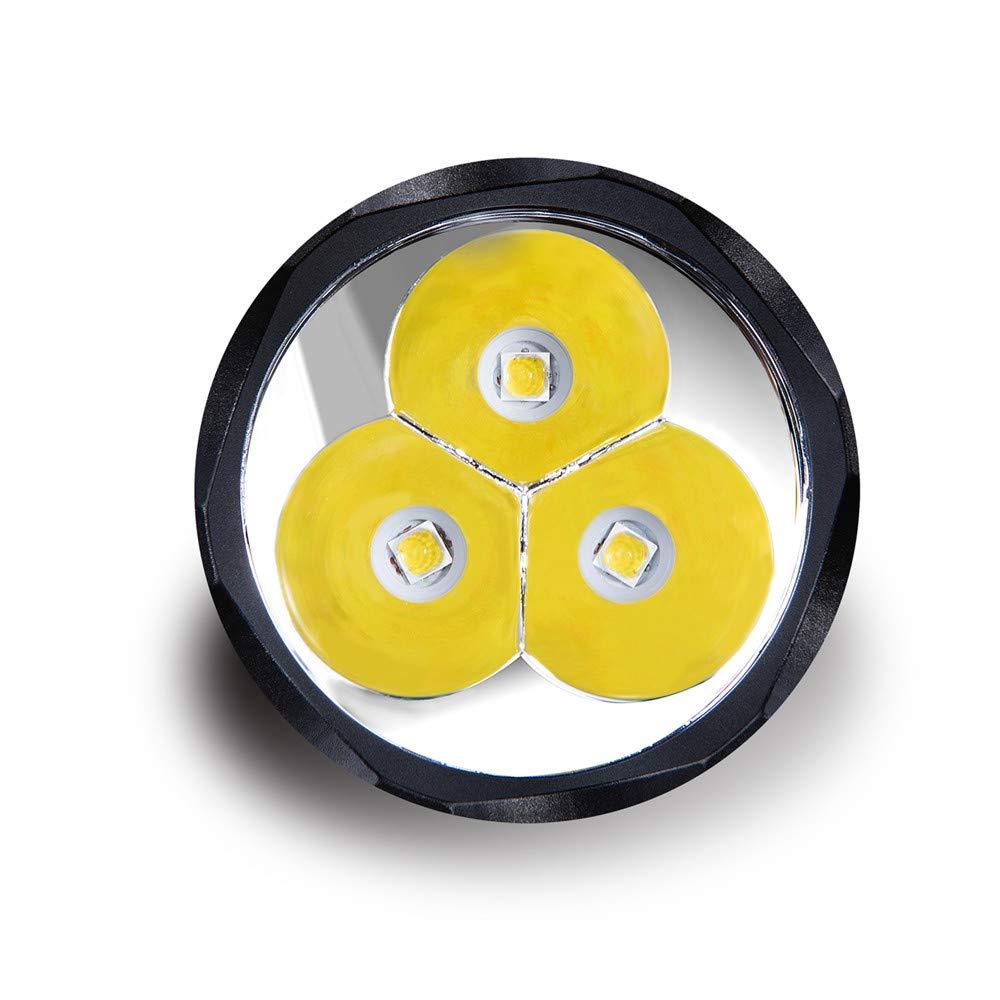 perfektes Licht f/ür Outdoor Camping Sofirn C8F Leistungsstarke taktische Taschenlampe mit 3 XP-L-LEDs 4 Lichtgruppen 1 bis 7 Lichtstufen 2 Schalter maximal 3500 Lumen