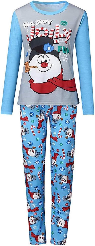 Pijamas de Navidad Familia, Letra Impresa Estampado de Muñeco ...