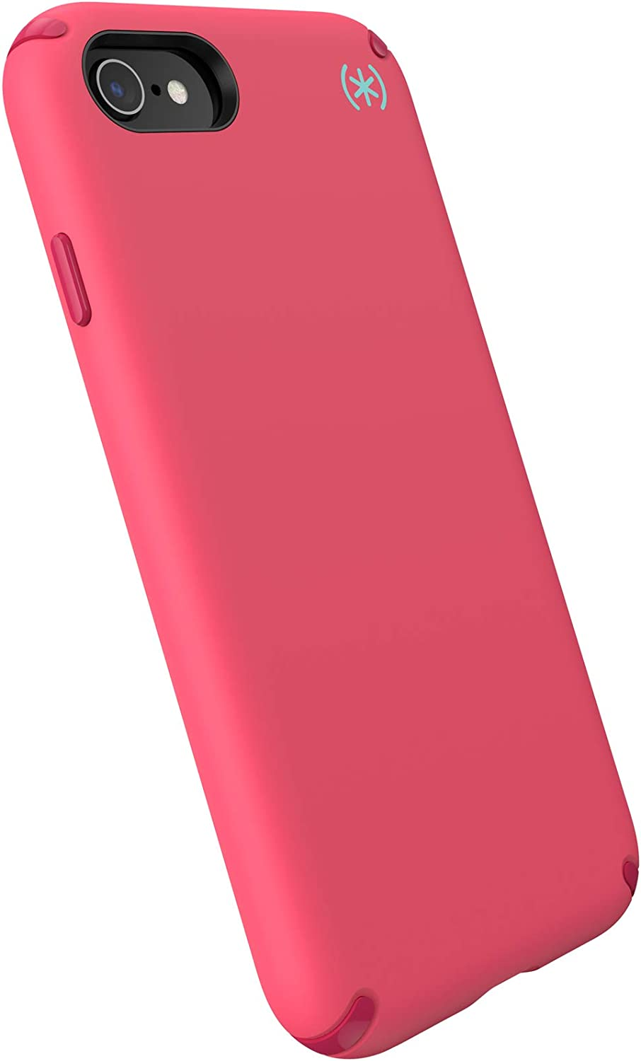 Speck Products Presidio2 PRO Case, Compatible with iPhone SE (2020)/iPhone 8/iPhone 7, Goji Berry Pink/Silk Scarf Red/Zeal Teal (136209-9131)
