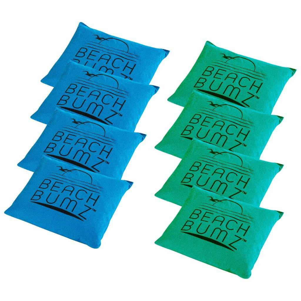 Franklin Sports Beach Bumz Replacement Bean Bags for Cornhole - Includes 8 Bean Bags - 6 inch x 6 inch