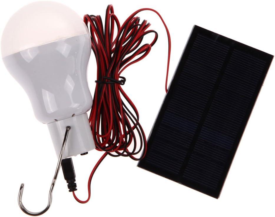 Bombillas LED portátil con panel solar de 0,8 W para acampada y ...