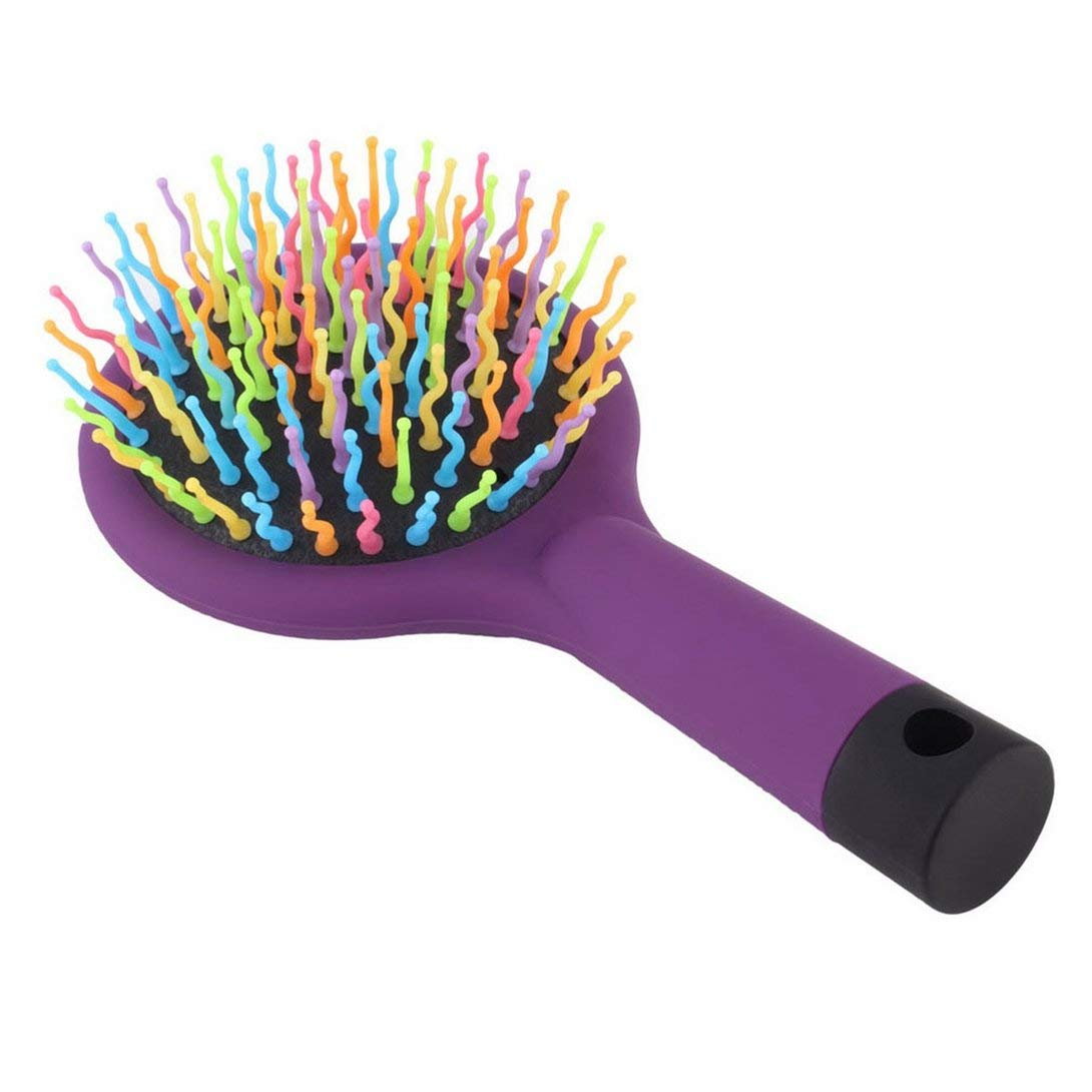 Swiftswan 2015 1 pz arcobaleno volume antistatico magico districante capelli arricciatura massaggio dritto pettine spazzola strumenti per lo styling con specchio