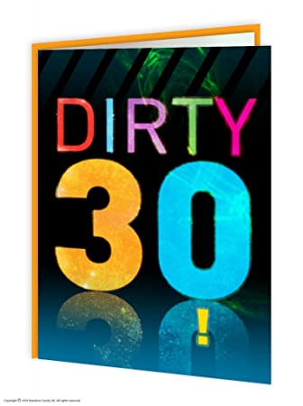 30th Birthday Cards Dirty 30 Amazon Office Products