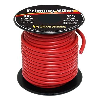 Amazoncom Grand General 55231 Red 16 Gauge Primary Wire Automotive