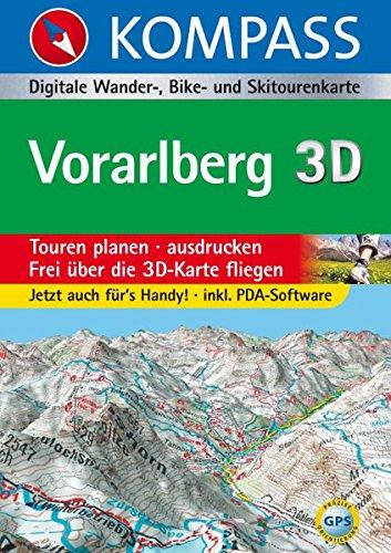 Vorarlberg 3D: Digitale Wander-, Bike- und Skitourenkarte (KOMPASS Digitale Karten, Band 4297)