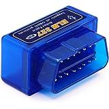 Super Mini ELM327 V1.5 Bluetooth With PIC1825K80 OBD2 Diagnostic Tool ELM 327 V1.5 Bluetooth(Blue)