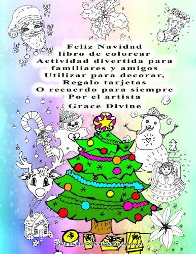 Amazon.com: Feliz Navidad libro de colorear Actividad ...