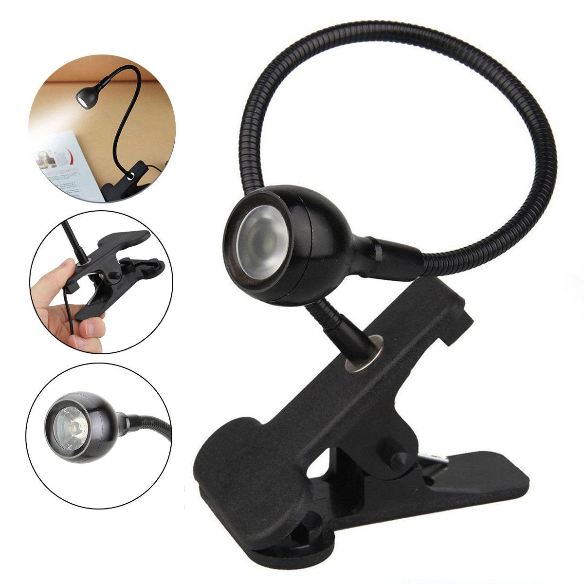 Flexible Neck LED Novelty Light Clip-on Book Reading Delicate Lamp Widely Used for Home Office Table Desk Bedside Podium Product Display Stand Repair Small Work etc. MDS4A