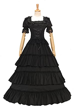 XOMO Elegant Victorian Gothic Lolita Ball Gown Puff Sleeve Lace Wedding Formal  Dress at Amazon Women s Clothing store  1a3a9f5cbf43
