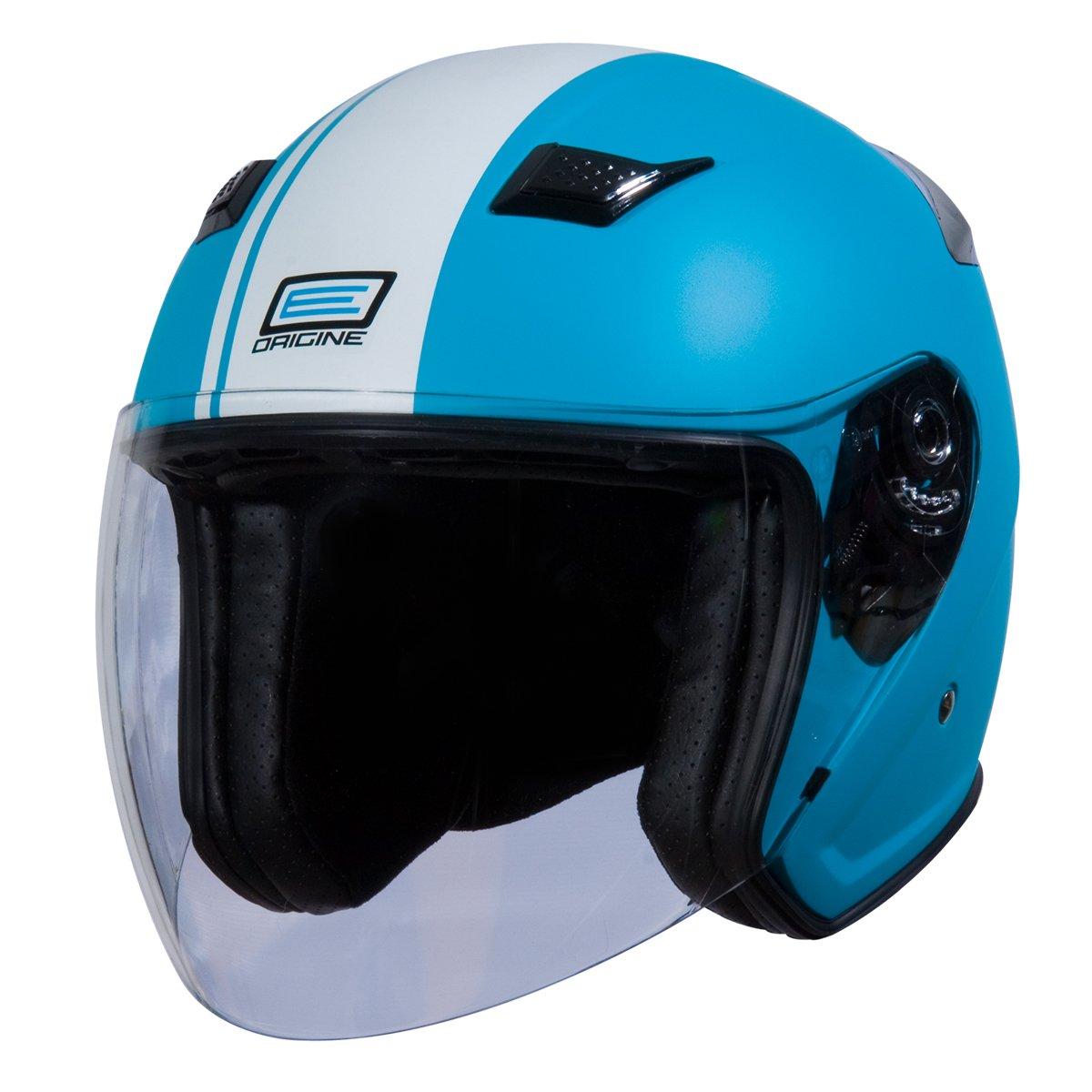 Origine O526 Aperto 3/4 Helmet (Flat Blue, X-Small) (White Gara) by Origine