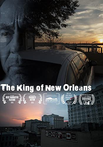 Cover image from DVD; man's face superimposed over taxi cab and skyline of New Orleans