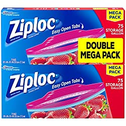 Ziploc Storage Bags, Gallon, 150 Count