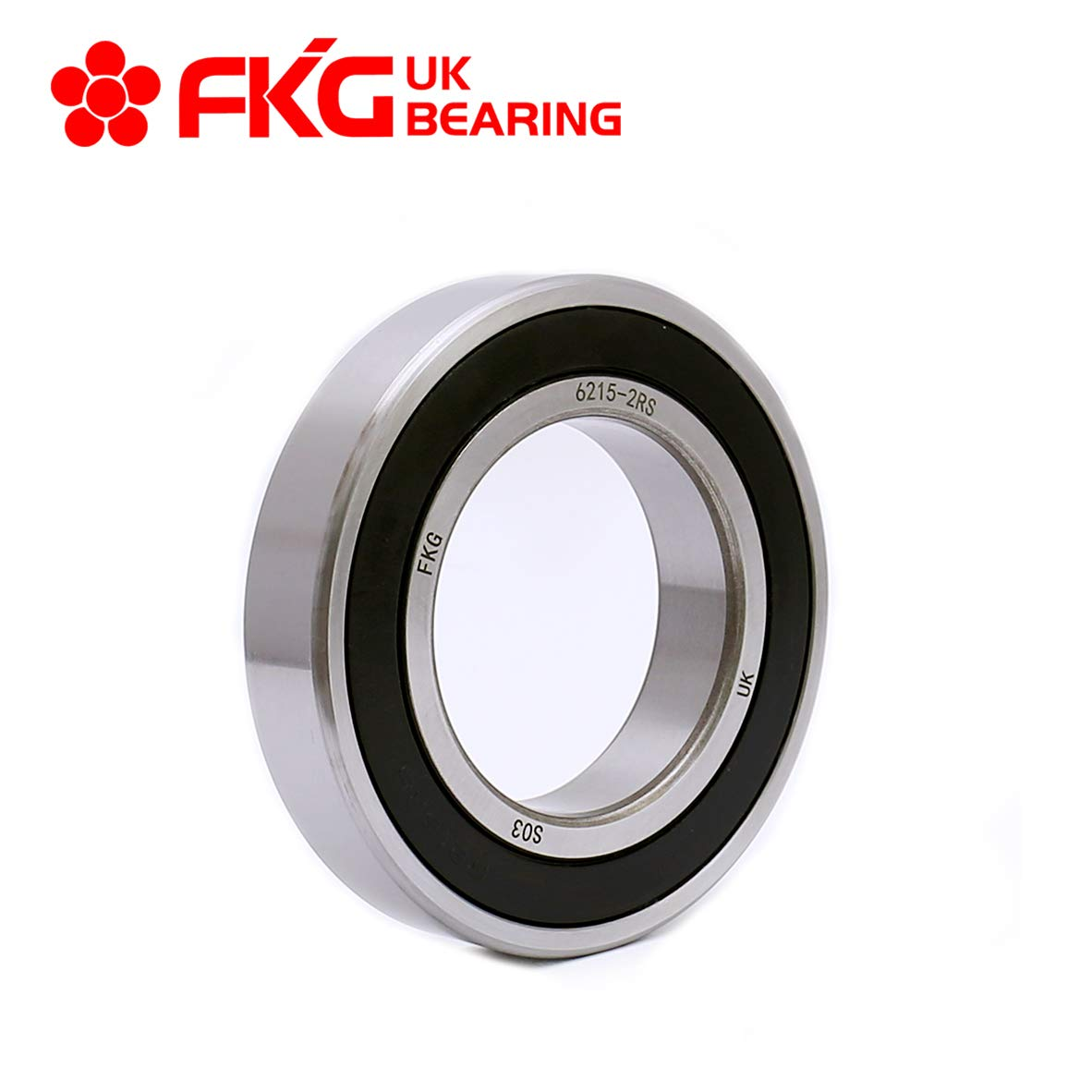 FKG 6215-2RS 75x130x25mm Deep Groove Ball Bearing Double Rubber Seal Bearings Pre-Lubricated