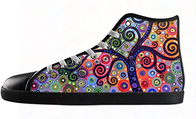 Daniel Turnai Fan Customized Tree of Life Top Canvas Sneaker Shoes for Men