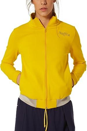 Naffta Tenis Padel Chaqueta, Mujer, limón/Gris Plata, M: Amazon.es: Deportes y aire libre