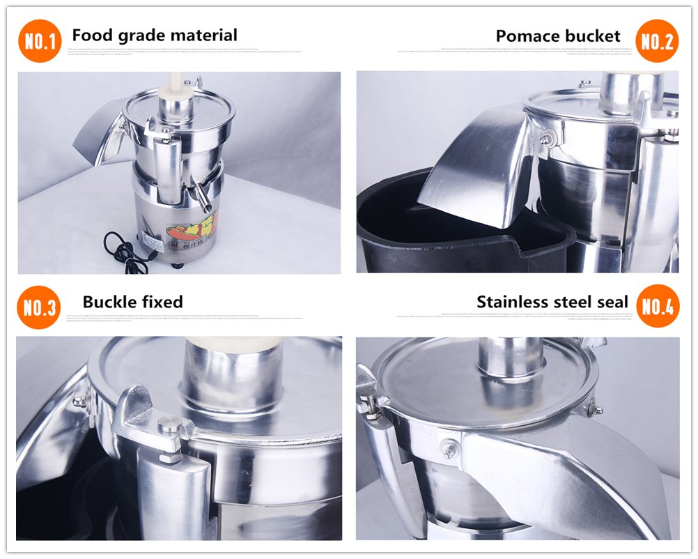 WF-A1000 Commercial large caliber Juice Extractor full stainless steel Juicer Juice machine Juicing machine Centrifugal Juicer Fruit and Vegetable juicer juice squeezer 750W 2800r/min 120-140kg/h by CGOLDENWALL (Image #5)
