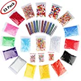 #6: 33 Pack Slime Making Kits Supplies,Fishbowl Beads,Foam Balls,Glitter Shake Jars,Fruit Flower Candy Slices Accessories,DIY Art Craft for Homemade Slime, Wedding and Party Decoration