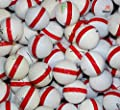 50 Premium Assorted Red Striped White Range Practice Golf Balls