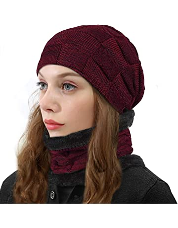 bf0dbe3c94f307 ZIQIAN Beanie Hat Men Warm Knit Hat Oversize Skull Cap Male Female Skiing  Running Hiking Outdoor