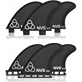 Naked Viking Surf: Small/Medium NV-4 Thruster Surfboard Fins (Set of 3 Fins) FCS & Futures Compatible