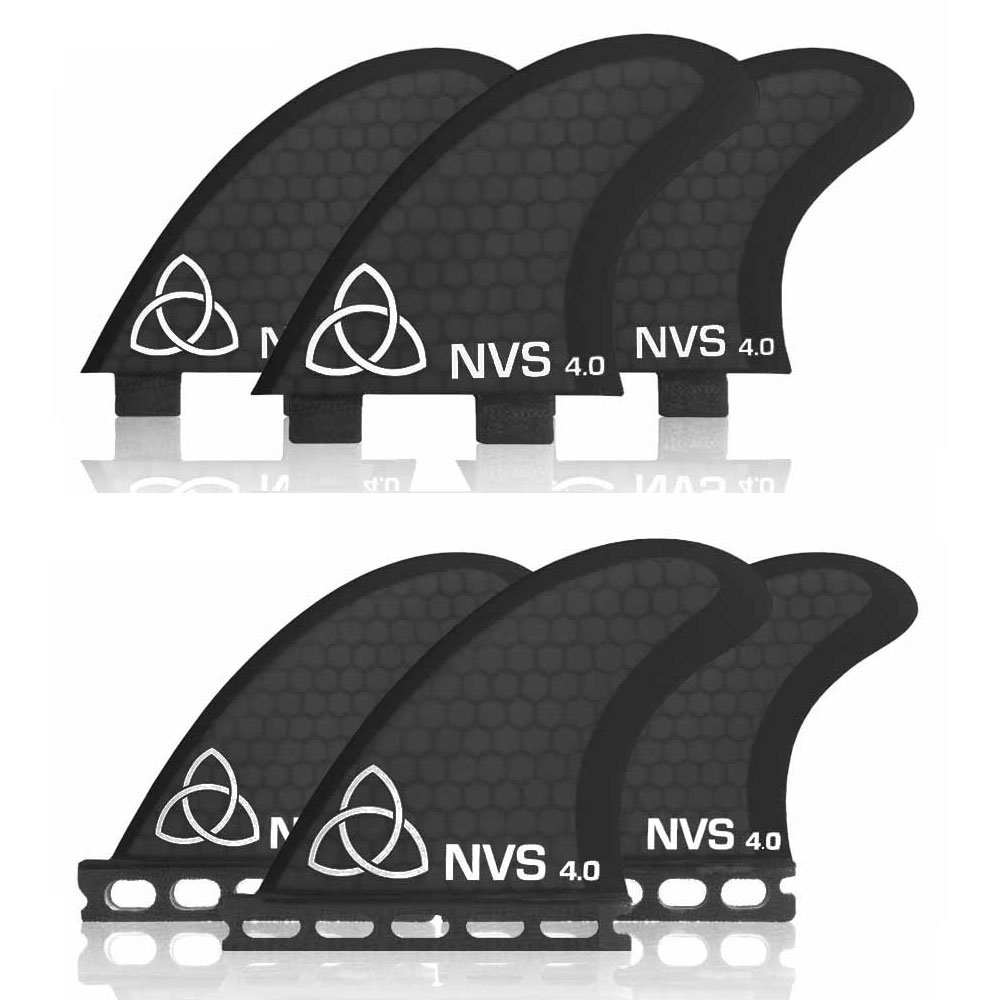 Naked Viking Surf Small NV-4 Thruster Surfboard Fins (Set of 3) FCS & Futures