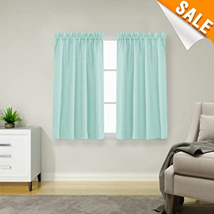 Amazon Com Lazzzy Baby Blue Waterproof Small Window Curtains For