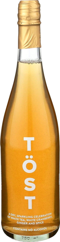 Tost, Sparkling Beverage Tea Cranberry Ginger Spice, 25.36 Fl Oz