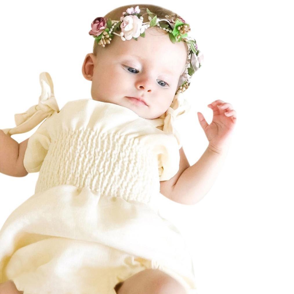 Mameluco bebe niña , Amlaiworld Linda Recién nacido bebés niñas correa sólido mamelucos Playsuit trajes mono ropa recien nacido niña 3 Mes - 2 Años Amlaiworld 1