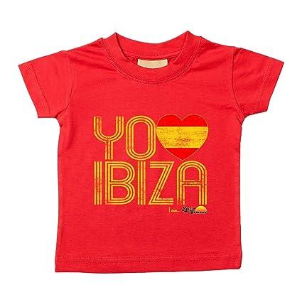 Love Ibiza: España Loves Ibiza Camiseta de bebé rojo rosso ...