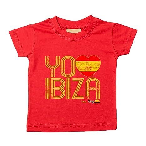 Love Ibiza: España Loves Ibiza Camiseta de bebé rojo rosso Talla ...