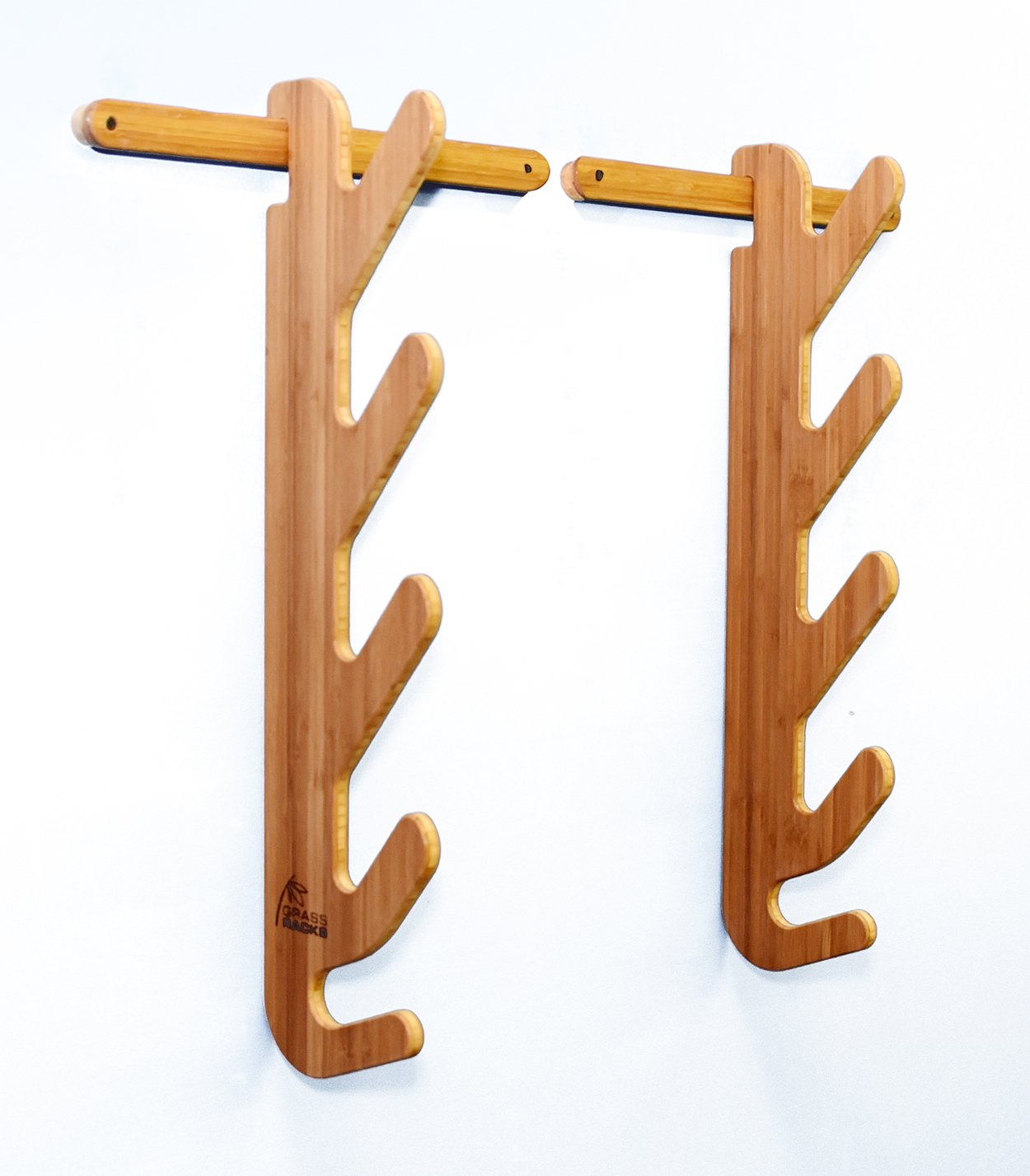 Grassracks Hallsteiner Quad Bamboo Ski Rack for 3 or 4 Pairs of Skis Maholla Products Inc. 50040C