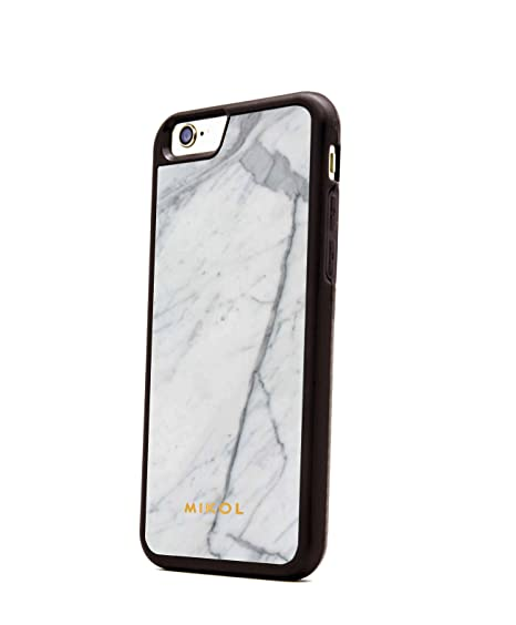 online store af1e4 cf32e Mikol Iphone 6/6S Case Carrara White (Black Border)