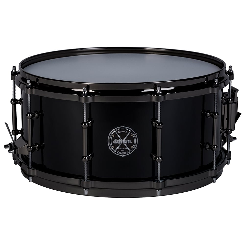 ddrum MAX Series 6.5x14 Snare Drum-Piano Black (MAXSD65X14PB by Ddrum