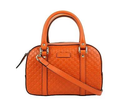 aaa300b0287c13 Amazon.com: Gucci Women's Orange Guccissima Leather Small Crossbody Bag  510289 7527: Shoes