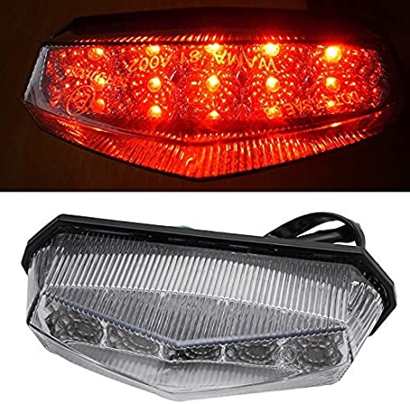 Universal Motorcycle LED Tail Brake Light w// Turn Signals+Cruiser Keychain