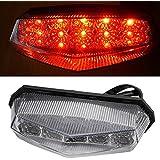 BADASS SHARKS 1x Universal Motorcycle ATV 10 Red LED Brake Stop Running Rear Tail Light Indicator